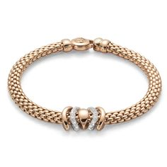 FOPE Bracelet FLEX'IT Virginia 18ct White And Rose Gold   C W Sellors Fine Jewellery and Luxury Watches