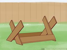 3 Ways to Build a Tumbling Composter - wikiHow Tumbling Composter, Galvanized Steel Pipe, Barrel Roll, Basic Hand Tools, Garbage Can, Wood Slab, Pvc Pipe, Building, Gardening