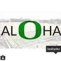 Instagram Repost from @manamagazine and @kelopiko - seeing a lot of these green O's on my feed today #goDucks! You can bet we'll be watching the game with most of Hawaii today - our O is for #Ohana and #808values