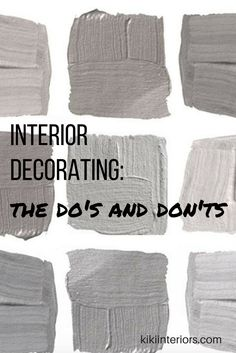 Interior Decorating - Do's and Don'ts. Find your home style. It's easy!  Home decor blogger.Interior decorating ideas. home decor blog