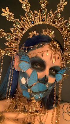 Sugar Skull Makeup, Sugar Skull Art, Mode Inspiration, Character Inspiration, Headdress, Headpiece, Mode Baroque, Halo Headband, Fx Makeup