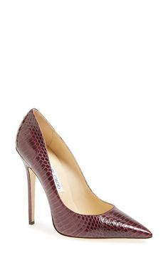 Jimmy Choo 'Anouk' Genuine Snakeskin Pump (Women) available at #Nordstrom
