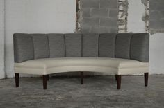 curved channeled banquette