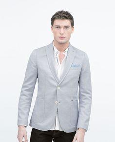 Sky blue structured blazer. Sky Blue. $149