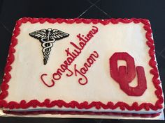 OU Med School Graduation Cake