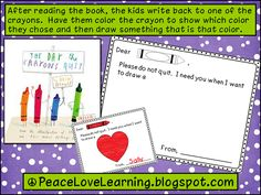 The Day the Crayons Quit activity printable on PeaceLoveLearning blog