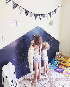 Faça você mesmo sua parede lousa! Confira as dias no blog!