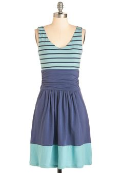 Weekend Favorite Dress. Celebrate a sunny Saturday afternoon by donning this comfy dress by Synergy! #blue #modcloth