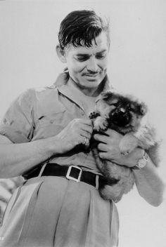 Clark Gable with a puppy!! #socuteidie