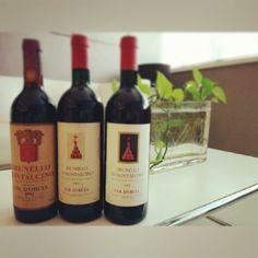 mini #vertical, anyone? #wine #Brunello #Italy #orcia #coldorcia #brunellodimontalcino #montalcino #1982 #1993 #1995