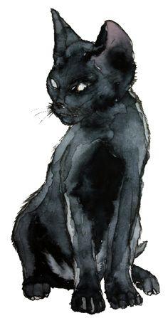grav3yardgirl drawings | ... eyes vintage black draw kitten Black Cat great grav3yardgirl blackcat