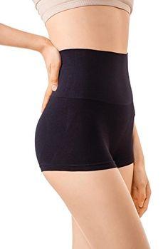 3c6609bdbc5f0 MD Womens Shapewear Compression High Waisted Boyshort Rear And Bottom Body  Shaper Small Black