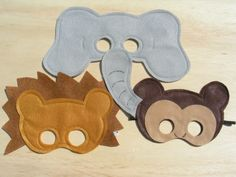 Safari Masks- these don't look that hard to make as a craft someday