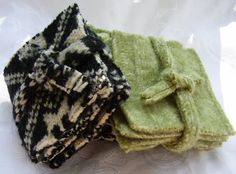Set of 4 felted coasters by Susansfabfinds on Etsy, $4.00