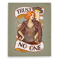 Trust No One Punk Dana Scully Canvas Print