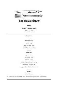 Our menu for The Great Gatsby event on 27th July is almost there. Check out the work in progress hereall we need now are some themed cocktails. Any suggestions for names? You could win a free pair of tickets