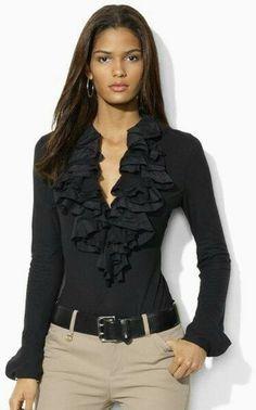 34 ideas para combinar tus blusas negras - Outfits