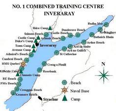 Map of the No 1 Combined Training Centre, Inveraray
