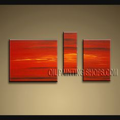 Astonishing Modern Abstract Painting High Quality Oil Painting For Living Room Abstract. This 3 panels canvas wall art is hand painted by Bo Yi Art Studio, instock - $135. To see more, visit OilPaintingShops.com