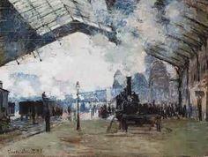 La gare Saint Lazare à Paris - Claude Monet