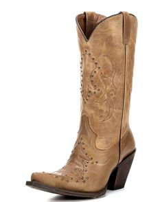 Adrianna Cowgirl Boot by Eight Second Angel:http://www.countryoutfitter.com/products/74456-womens-adrianna-boot-distressed-copper/?lhb=style