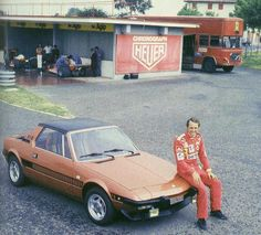 Niki Lauda and his Fiat Bertone X1/9 Serie Speciale