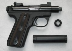 """Ruger Mark III with a 2.625"""" threaded barrelLoading that magazine is a pain! Get your Magazine speedloader today! http://www.amazon.com/shops/raeind"""