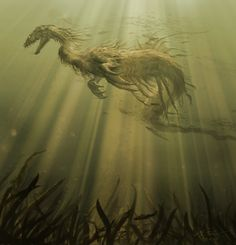 Below the Surface by ~Eclectixx on deviantART  And imagining of the Loch Ness monster.