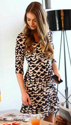 Yasemin Allen - Merhamet TV Series - #AdolfoDominquez dress.