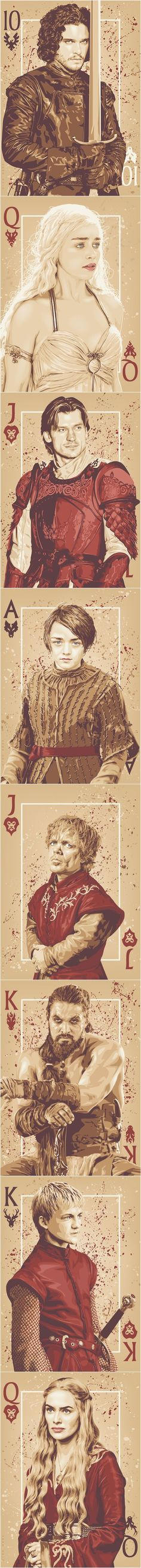 """Cards """"Game Of Thrones"""" By Ratscape:"""