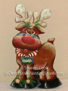 The Decorative Painting Store: Rudolph the Reindeer Pattern, Sharon Cook