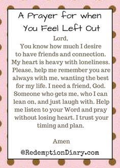 A Prayer For When You Feel Left Out