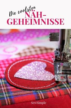 ᐅ Die coolsten Nähgeheimnisse The coolest sewing secrets: With great tricks, hacks, tips and gadgets about sewing makes my favorite hobby but twice as much fun! Air my sewing secrets now! Diy Embroidery Projects, Hand Embroidery Patterns Free, Embroidery For Beginners, Sewing Projects For Beginners, Sewing Patterns Free, Free Sewing, Hand Sewing, Sewing Hacks, Sewing Tutorials