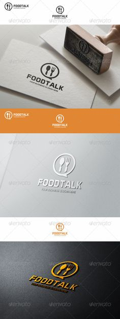 Food Talk Logo Template - Food Logo Templates