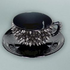 Spiked tea cup I just. Such spike very goth so want wow. Spiked Tea, Coffee Cups, Tea Cups, Drink Coffee, Coffee Coffee, Tea Cup Saucer, Coffee Time, Goth Home, Glam Style