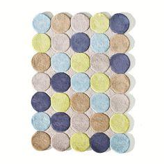 Tapis enfant, coton tufté, pois multicolores, Nikka La Redoute Interieurs