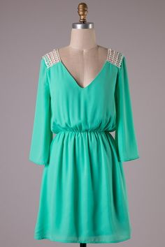 Mint on my Mind Dress Hadley Rae Boutique