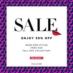 DVF Sale Email Design: