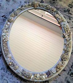 Rhinestone Wall Mirror vintage pewter hand mirror | antique hand mirrors&cia. | pinterest