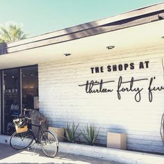 Where to shop in Palm Springs: The Shops at Thirteen Forty Five- 11 shops housed under one fabulous vintage masterpiece E. Stewart Williams designed building.