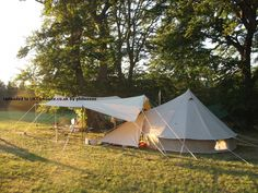 bell tent awning set up