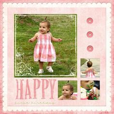 first birthday scrapbook layouts | Birthdays