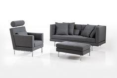 Das Amber Sofa, Sessel und Hocker von Brühl. The Amber sofa, chair and stool from Brühl.