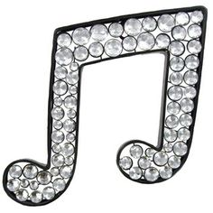 Black Metal Bling Double Music Note with Clear Acrylic Gems | Shop Hobby Lobby