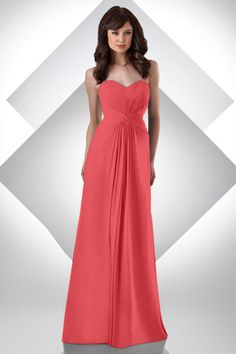 Style 310: Bridesmaids, Prom, Special Occasion & Evening: Bari Jay and Shimmer in Coral
