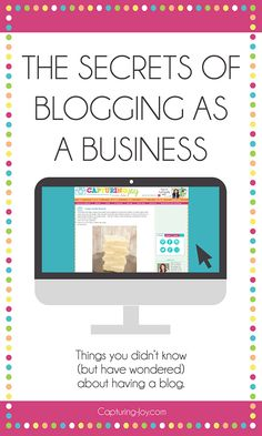 How to start a blog: The Secrets of blogging as a business with information on how much time is spent, what bloggers make, and how to cross promote with other bloggers in this 3 part series.