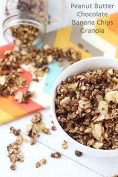 Peanut Butter Chocolate and Banana Chip Granola- Blahnik Baker