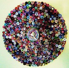 Wall Clock Colorful Paper Clock Handmade Wall Clock by Shannybeebo, $80.00