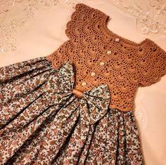 Crochet Girls Crochet Bebe Crochet For Kids Sewing For Kids Baby Gown Crochet Baby Booties Baby Girl Dresses Baby Crafts Crochet Designs Crochet Dress Girl, Crochet Girls, Crochet Baby Clothes, Patterns For Baby Clothes, Crochet Yoke, Crochet Fabric, Crocheted Lace, Little Dresses, Little Girl Dresses