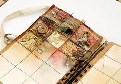 journal in progress by Finnabair / Anna Dabrowska #grid #mixed_media